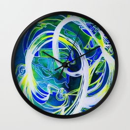 Blue Slick Wall Clock