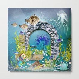 Unterwasserlandschaft Metal Print