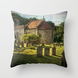 St Peter and St Paul Checkendon Throw Pillow