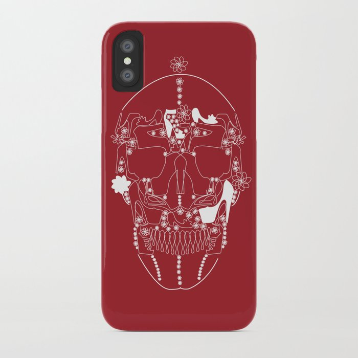 shoes make a skull iPhone Case
