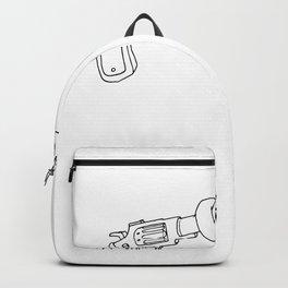 Ink Gun Funny Cartoon Gun Backpack
