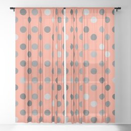 Polka Proton Pink Sheer Curtain