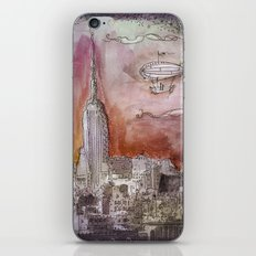 Boat over the City iPhone Skin