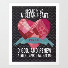 Psalm 51 Art Print