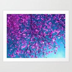 purple tree XXV Art Print