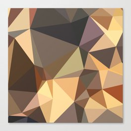 Bole Brown Abstract Low Polygon Background Canvas Print