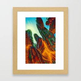 Flame Cactus Framed Art Print