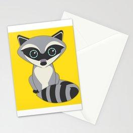 Forest Raccoon Nursery Set Stationery Cards