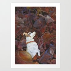 A Toy Dog Art Print