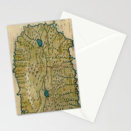 Vintage Map of West Africa (1561) Stationery Cards