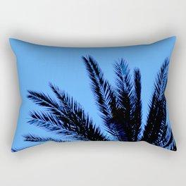 Blue Palm Rectangular Pillow