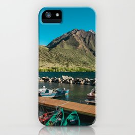 Convict Lake and Mt. Morrison iPhone Case
