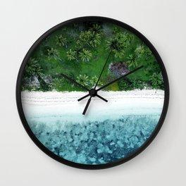 Tropical Beach Vibes Wall Clock