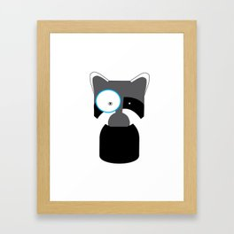 Racoon the Monimal Framed Art Print
