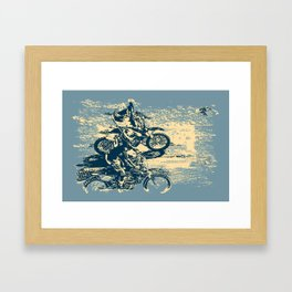 Dirt Track - Motocross Racing Framed Art Print