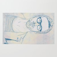 ryan gosling Area & Throw Rugs featuring RYAN by Itxaso Beistegui Illustrations