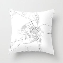 Minimal City Maps - Map Of Bobruysk, Belarus. Throw Pillow