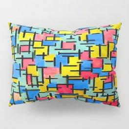 Piet Mondrian Composition Pillow Sham