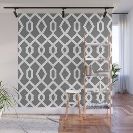 Grille No. 3 -- Black Wall Mural