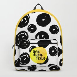 Yes You Can Motivational Quote Backpack