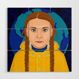 Greta Thunberg Wood Wall Art