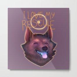 I Love My Rescue Metal Print