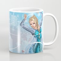 frozen elsa Mugs featuring Elsa by Brett Parkey