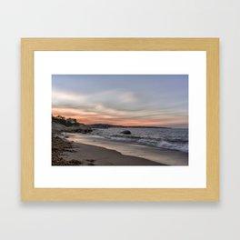 Sunset Sky at Old Garden Beach Framed Art Print