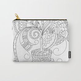 happy birthday with zen patterned cake Carry-All Pouch