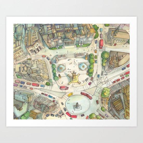Trafalgar Square Art Print