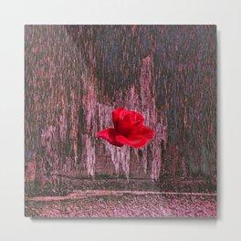 wood. rose Metal Print