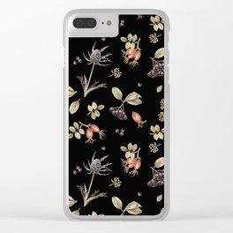 rosehip, chokeberries and teasel III Clear iPhone Case