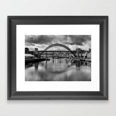 River Tyne Bridges Framed Art Print