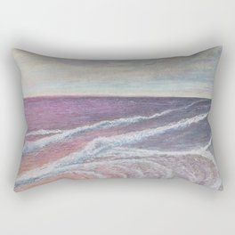 Seascape 'Crimson Waters' Rectangular Pillow
