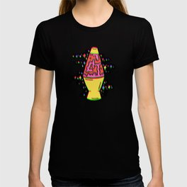 Lit Lava Lamp in pink in 3D T-shirt
