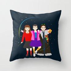 Stranger Friends Throw Pillow