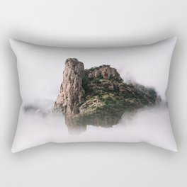 Fantasy Floating Mountain Rectangular Pillow