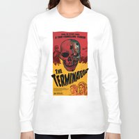 terminator Long Sleeve T-shirts featuring The Terminator by Vaughany