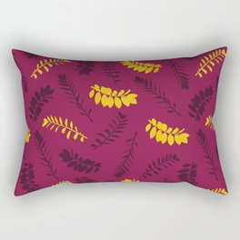 Gold Leaves Rectangular Pillow