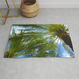 Dreamy Palms of Hawaii Rug