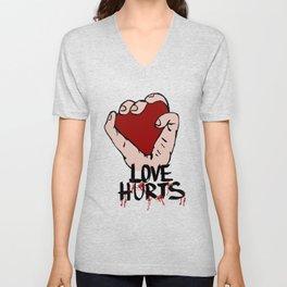 Love hurts Unisex V-Neck