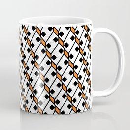 Diamond Domino Square Dice Eyes Dalmatian Pattern Coffee Mug