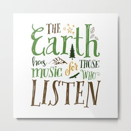 The Earth's Music Metal Print