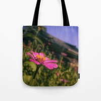 seoul Tote Bags featuring Seoul Flower by Clayton Jones