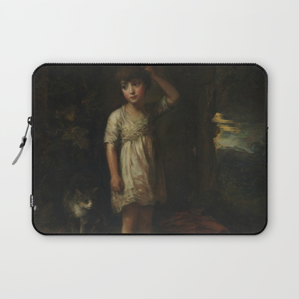 "Thomas Gainsborough """"a Boy With A Cat"""" Laptop Sleeve"" LSV8365583"