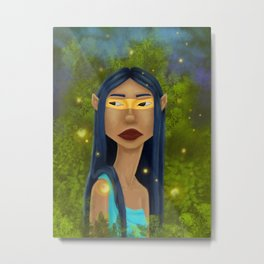 Tribal Elf Metal Print