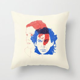 Like Mother, Like Son Throw Pillow