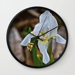 Graveyard Flower Wall Clock