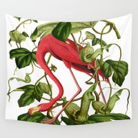 flamingo Wall Tapestries featuring Flamingo by Fifikoussout
