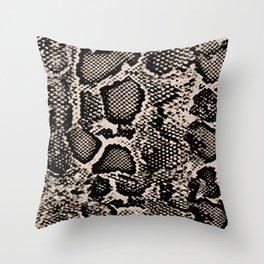 Snake Skin Animal Jungle Print Throw Pillow